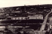 Вид на улицу и площадь Комсомольскую с сопки над школой №1.