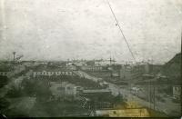 Вид на комсомольскую площадь и порт г. Корсакова