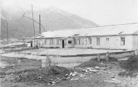 Последствия летнего шторма в поселке Кратерный на острове Симушир.