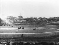 Стадион в г. Александровск-Сахалинске. Лето.