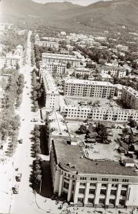 Панорама центрального района г. Южно-Сахалинска. Серия фотографий. Улица Сахалинская
