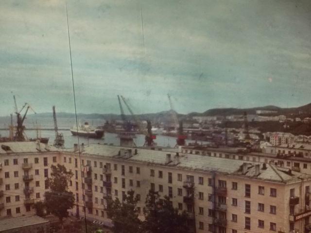 Вид на порт города Холмск