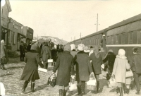 Посадка на поезд. Вокзал г. Макаров. Зима