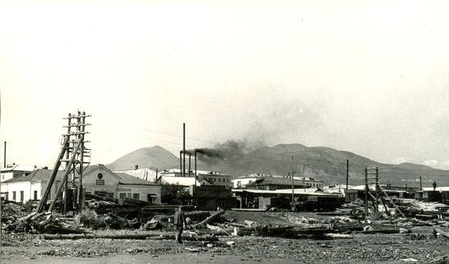 Железная дорога и вокзал г. Макаров