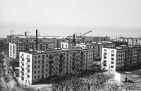 Вид на город Холмск, жилые дома по улице Комсомольской