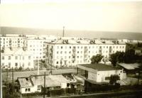 Район южного вокзала. Дома по улице Советской №21, 23. г. Холмск