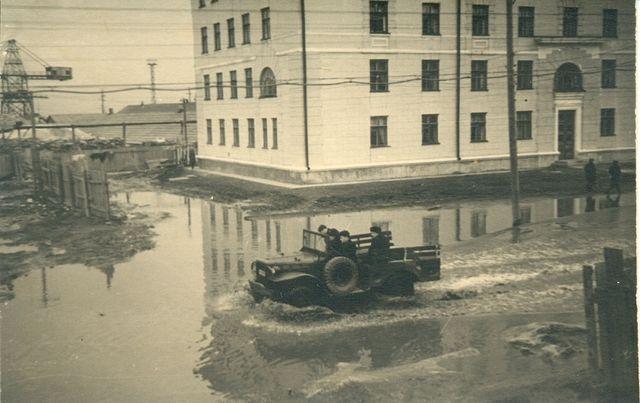 Потоп на улице Советской г. Холмск