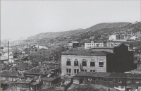 Панорама города. Строится дворец культуры моряков