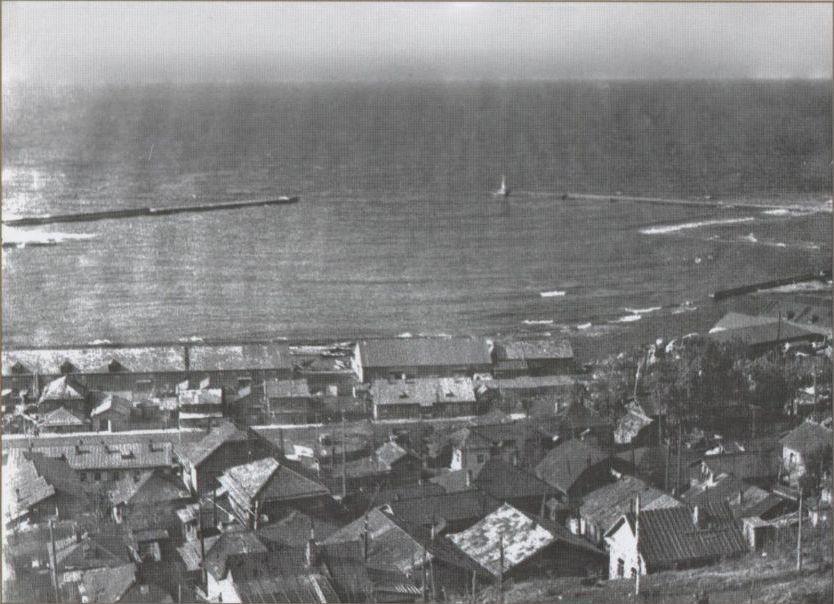 Панорама города Холмск. Улица Советская, район площади Мира.