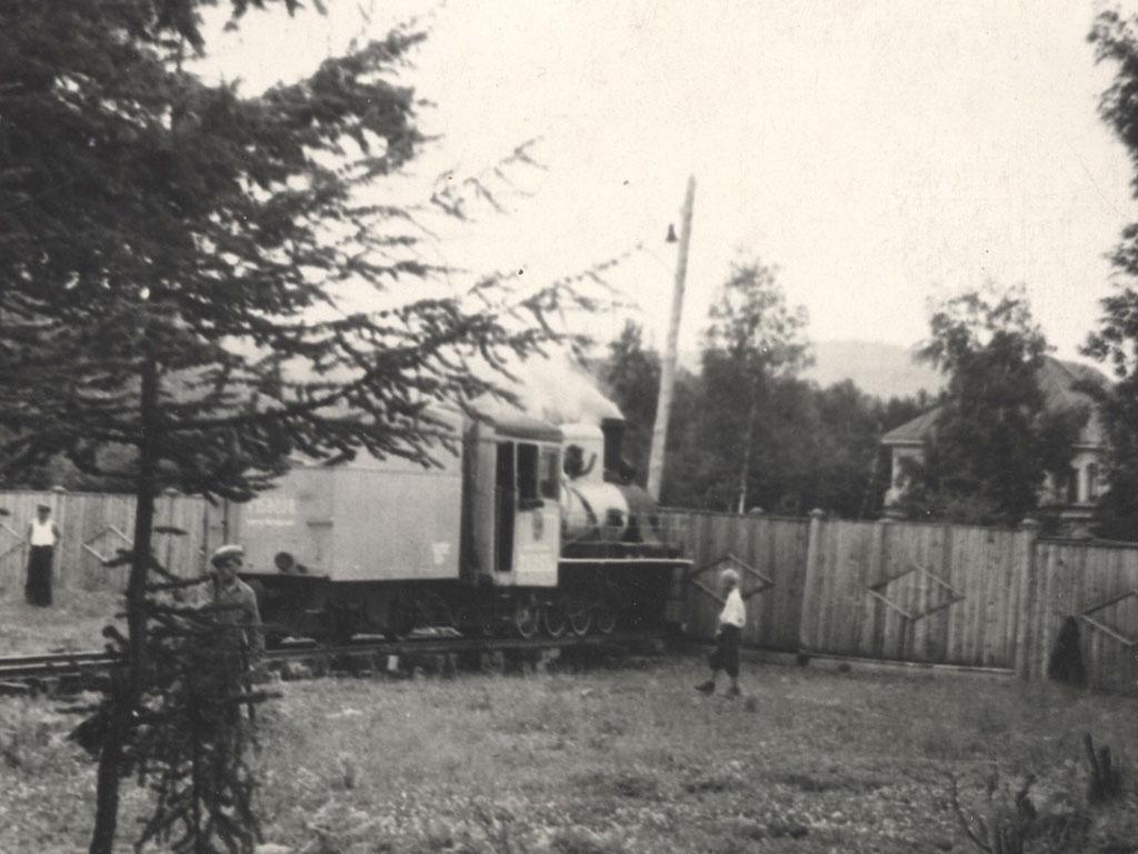 Паровоз 159-238 во время разворота на временном треугольнике. Южно-Сахалинская ДЖД.