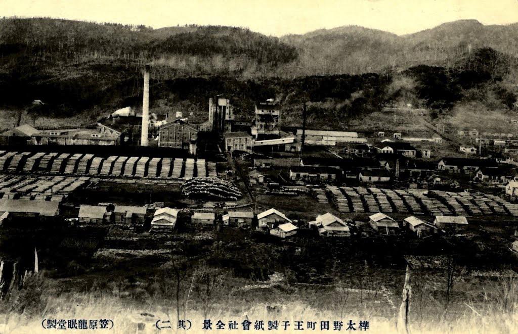 Вид на целлюлозно-бумажную фабрику г. Нода. 2 из 3.