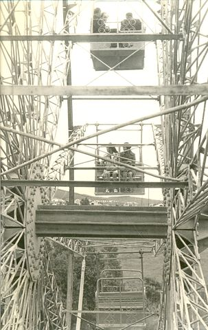 На колесе обозрения в городском парке г. Южно-Сахалинск