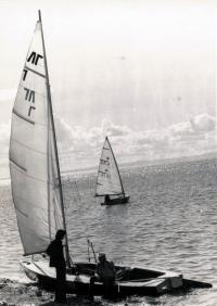 Хождение под парусом на озере Тунайча