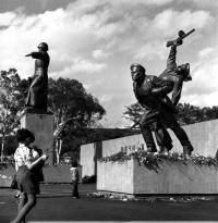 Мемориальный комплекс на площади Славы в память о советских воинах, павших в боях за освобождение Южного Сахалина и Курильских островов в 1945 году. г. Южно-Сахалинск