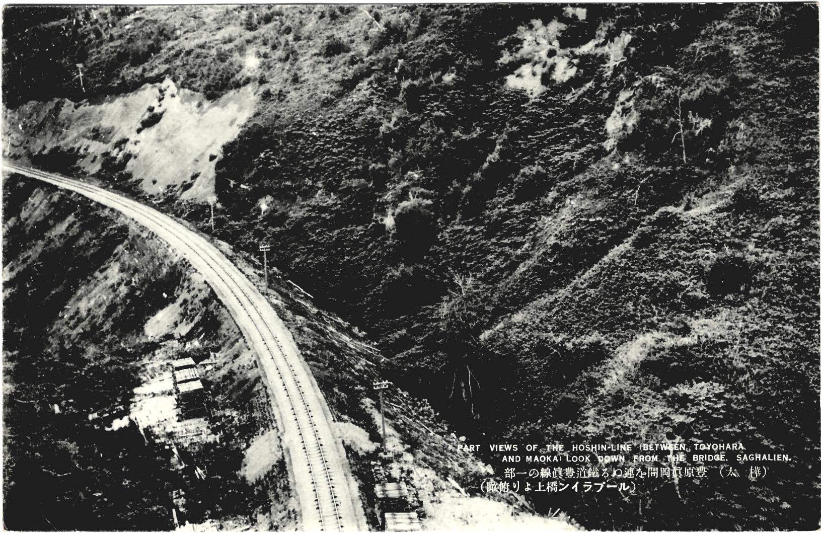 Часть железной дороги Тойохара-Маока. Фото сделано с моста.