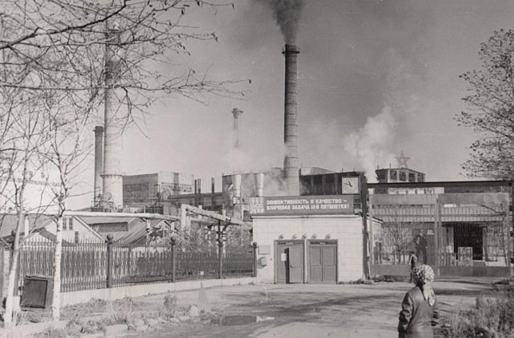 Проходная целлюлозно-бумажного комбината в г. Долинск