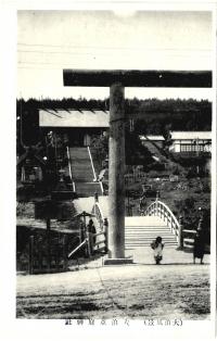 Вход в храм Анива дзинзя, г. Одомари