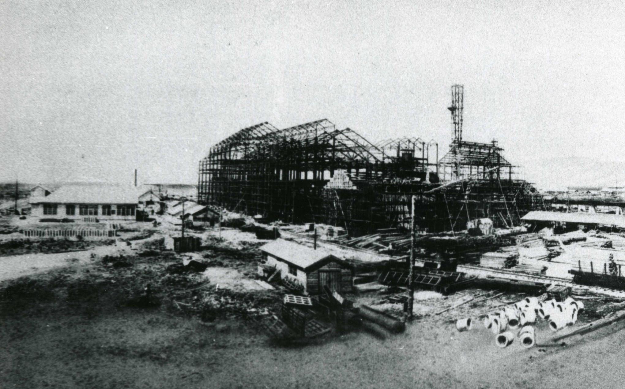 Строительство сахарного завода в Тойохаре