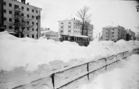 После метели, перекресток улиц Ленина и Хабаровской