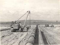 Строительство газопровода Оха - Комсомольск-на-амуре. Последние минуты перед началом прокладки дюкера через пролив Невельского