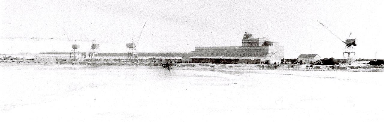 Панорама порта Корсаков. Зима.