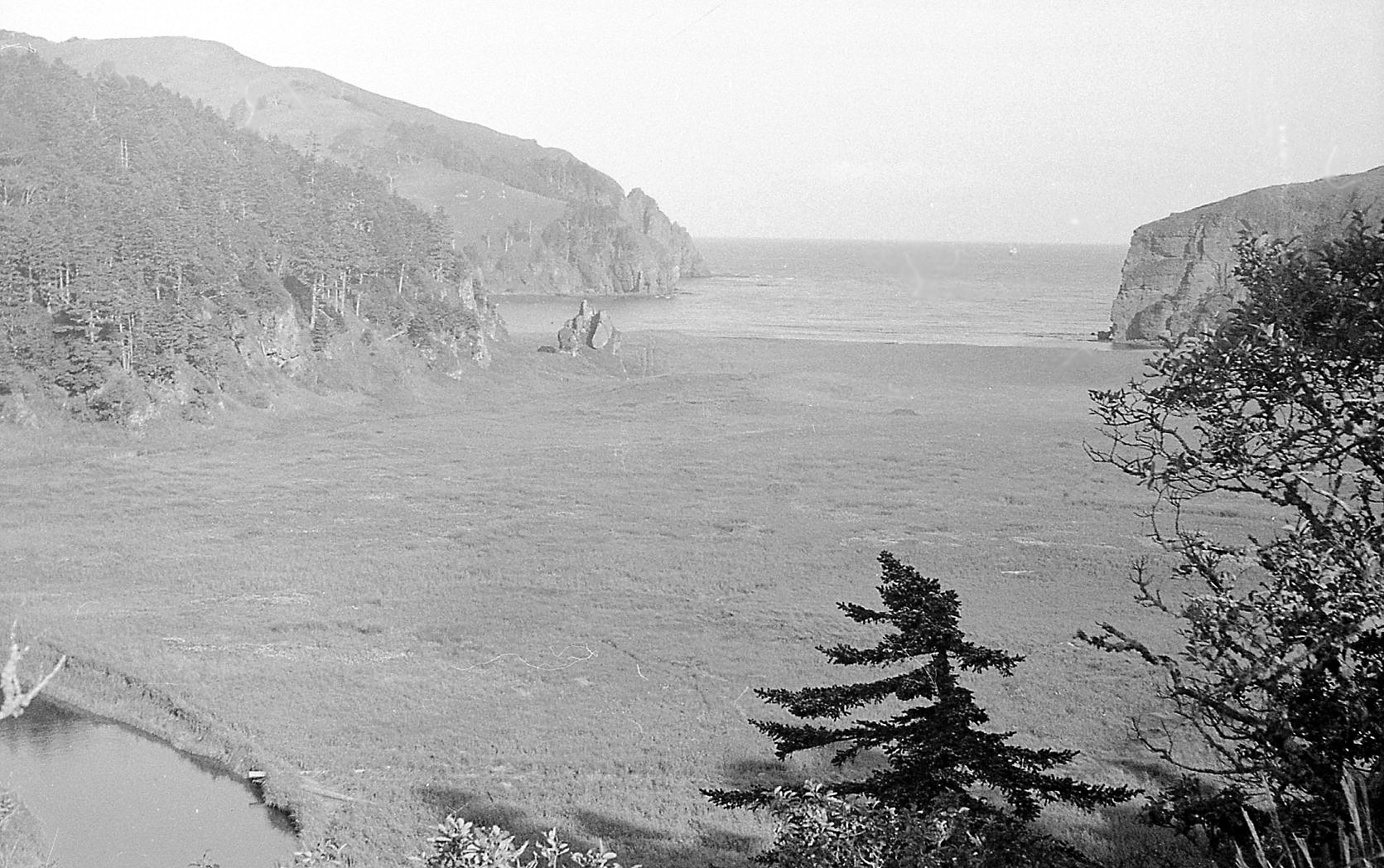Общий вид на бухту Горобец, о. Шикотан