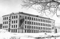 Школа №23 г. Южно-Сахалинска зимой
