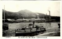 Вид с моря на бумажную фабрику г. Маока