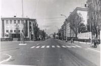 Площадь Ленина и здание УТФ в г. Невельск