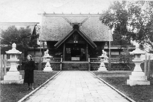 Вид японского храма в г. Сисука (г. Поронайск)