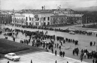 Площадь Ленина, вид с Горисполкома г. Южно-Сахалинска