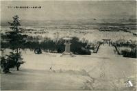 Вид на зимний город Тойохара от храма Карафуто дзинзя. 1 из 2.