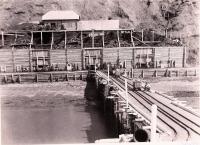 Вид новых угольных складов и части морской пристани общества 'Сахалин'.