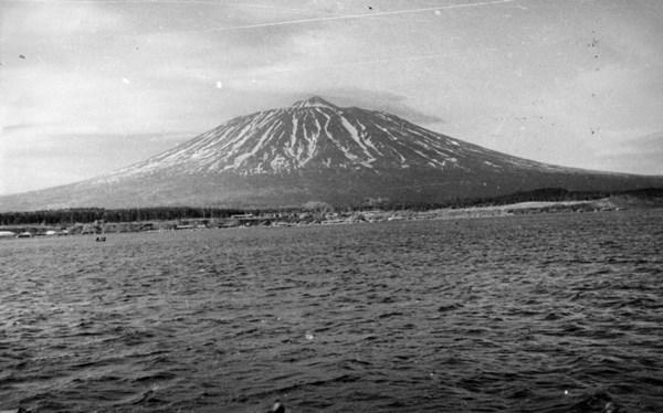 Вид на остров Кунашир. Курильские о-ва. 16 ноября.