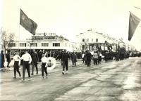 Шествие воспитанников детско-юношеской спортивной школы в г. Оха