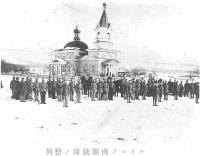 Построение пулеметного корпуса в Рыковском