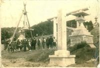 Строительство храма Маока дзинзя.