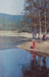 Озеро Верхнее в городском парке Южно-Сахалинска