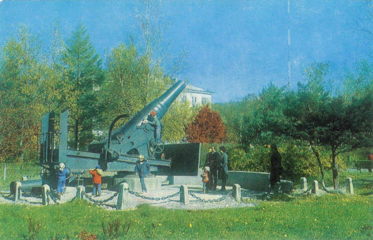 На территории краеведческого музея в Южно-Сахалинске