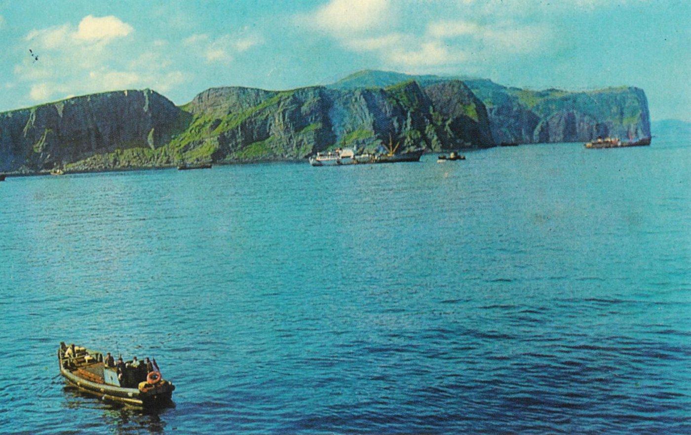 Мыс Трезубец на острове Шикотан