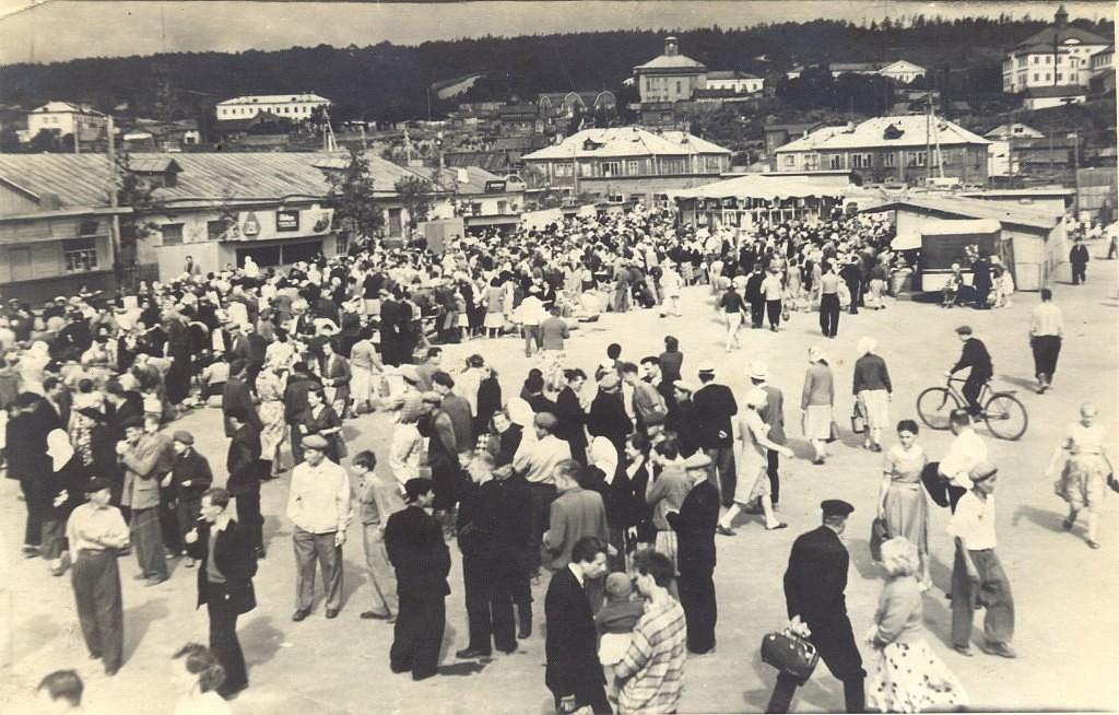 Корсаков. Городской рынок (вторая половина 1950-х г.)