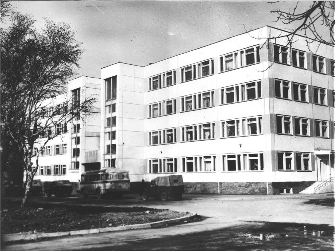 Здание областной конторы стройбанка, построенного в годы 10-й пятилетки.