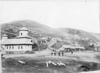 Храм в посту Дуэ на острове Сахалин. Период с 1875 по 1906 год. Коллекция фотографий Краснова Ивана Николаевича