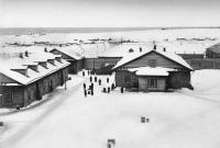 Тюремный двор в посту Александровском