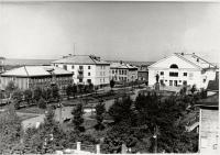 Вид города с площадью им. 15 мая г. Александровск-Сахалинский