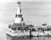 Встреча прибытия в порт парома 'Сахалин-1'. 12 апреля