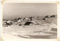 Поселок Байково на острове Шумшу зимой.